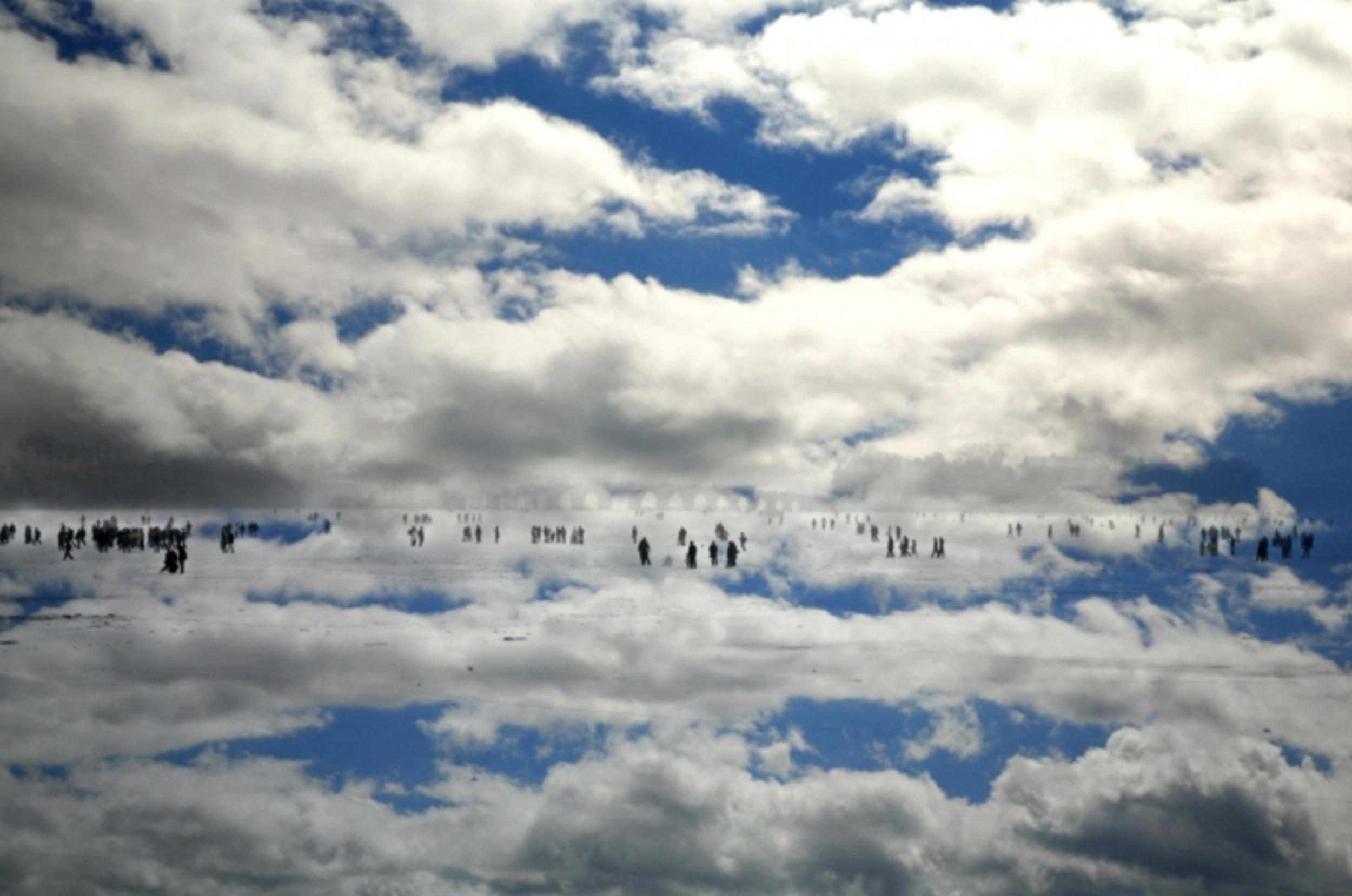 """Título:  """"Los paseantes I"""", 2007   Autor:  Cuico Gutiérrez  Técnica:  Fotografía 120 x 170 cm"""
