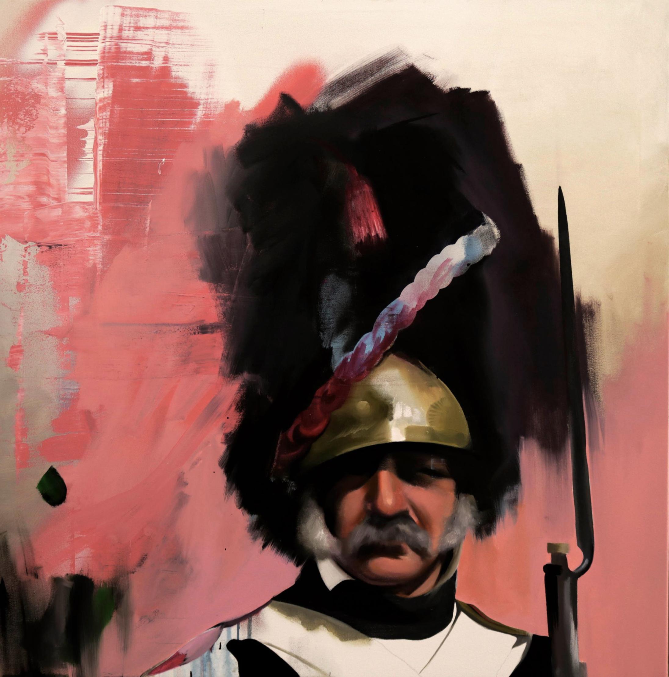 """Título:  """"Austerlitz"""", 2018.   Autor:  Manu Muñoz.   Técnica:  Óleo sobre lienzo.   Medidas:  80 x 80 cm."""