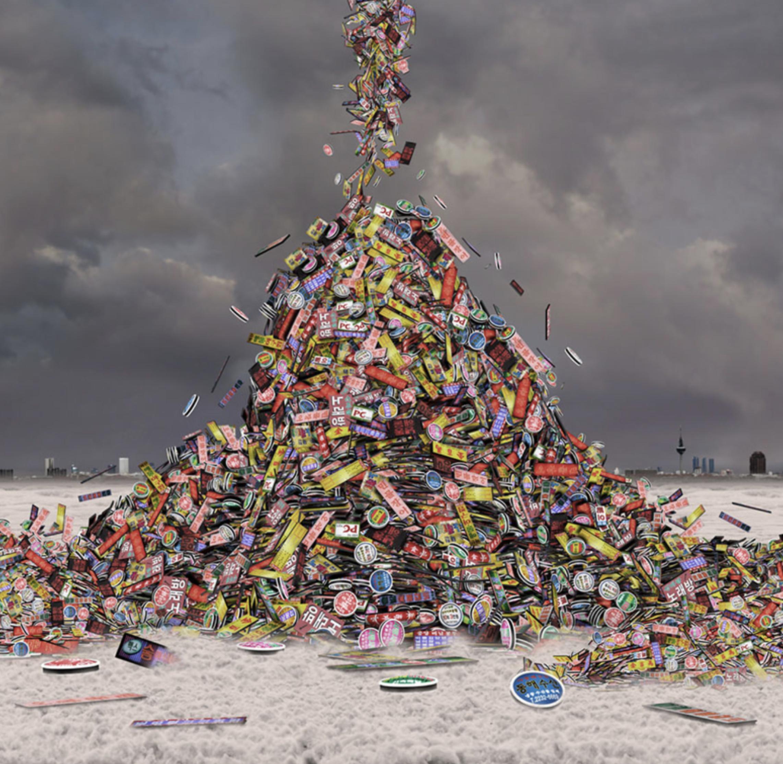 """Título:  """"Paisajes del futuro No. 22"""", 2011.   Autor:  Rosa Muñoz.   Técnica:  Fotografía.   Medidas:  136 x 140 cm."""