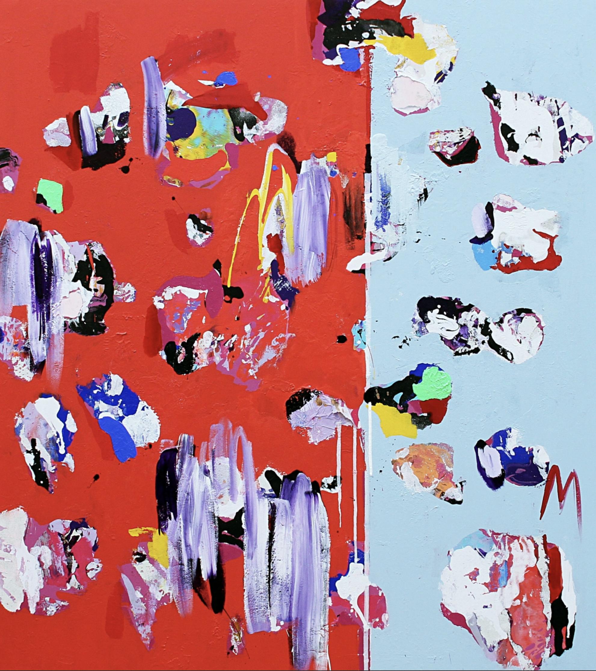 "Título:  ""ATLAS Parallel"", 2018 .  Autor:  Santiago Picatoste.   Técnica:  Óleo sobre lienzo.   Medidas:  180 x 160 cm."