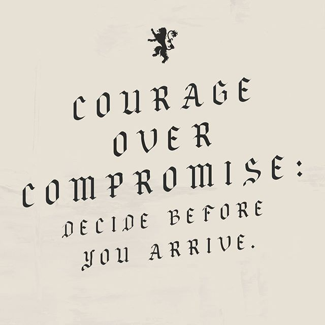 The last part of our courage series begins Sunday at 6PM. We hope you all will join us.