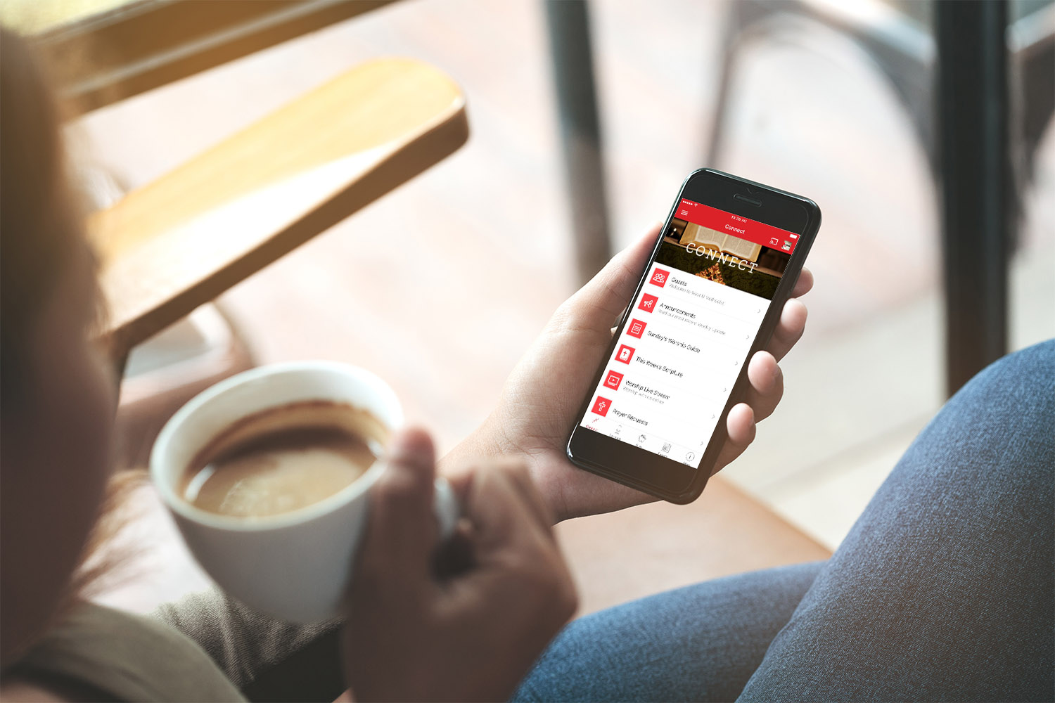 """On Our App - Download the free West U Methodist app located in the Apple App store or Google Play store. Click """"give"""" to get started.APPLE 