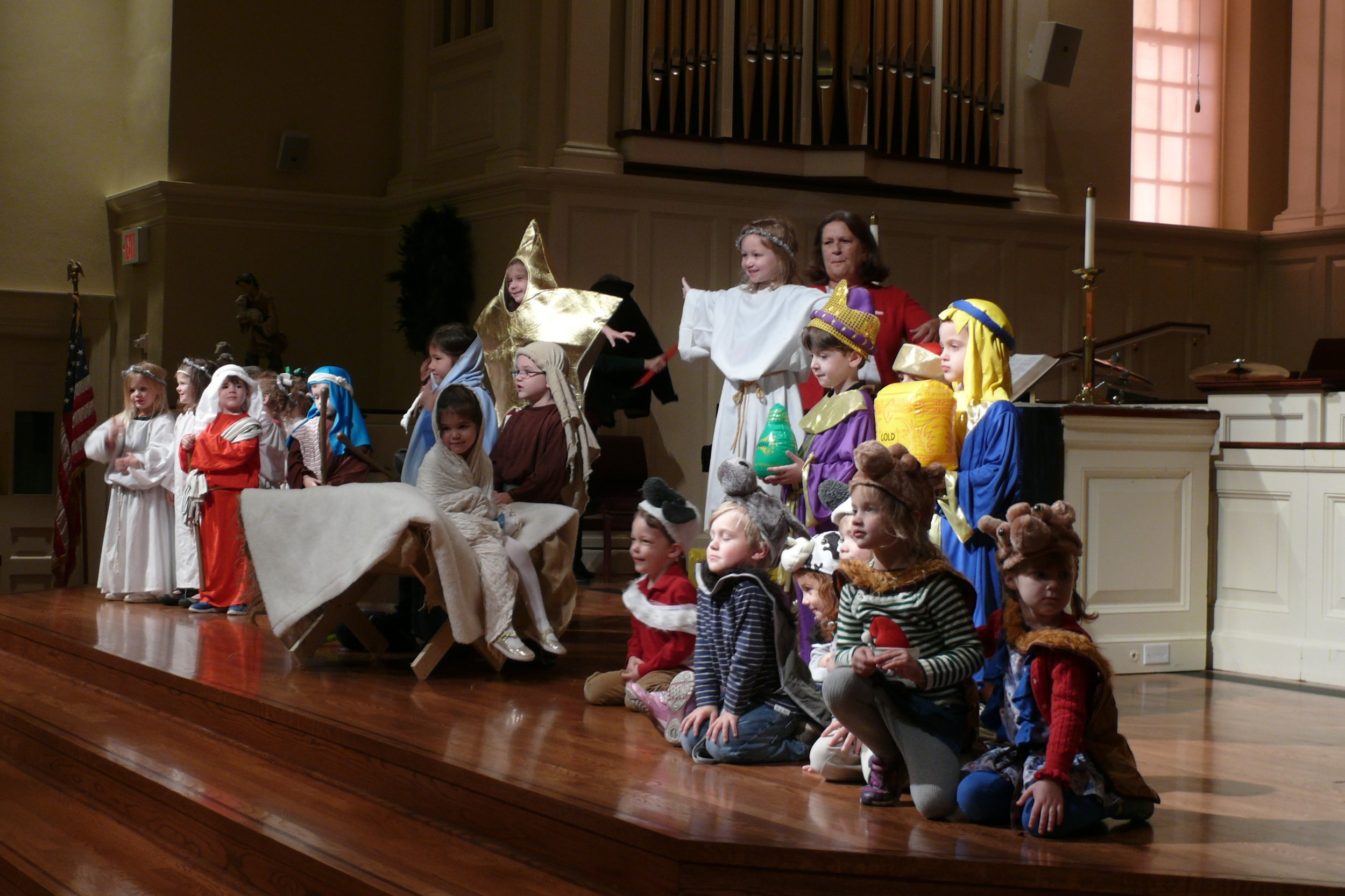 Preschool Chapel - Our Chapel is filled with the wiggles, giggles, love, and laughter of our young preschool children every Wednesday morning. We provide Christian education to our preschoolers and teach children to love Jesus.