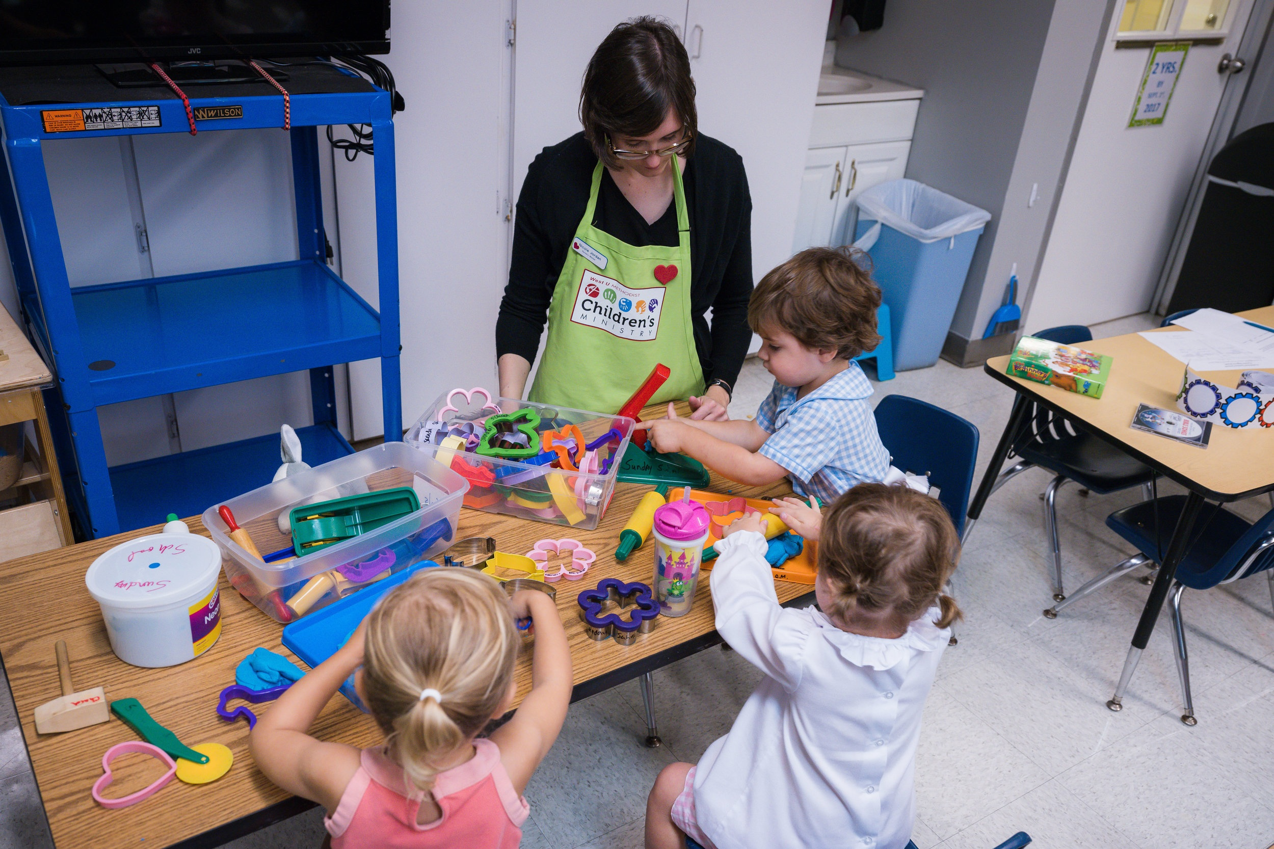 Preschool Sunday School - Bible lessons and fun activities are led by a talented group of volunteers. Young children learn to love God and the church and begin to understand how they can serve in God's name.