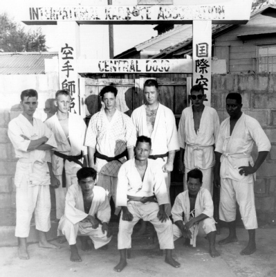 Shimabuku Tatsuo Sensei with some of his American students.