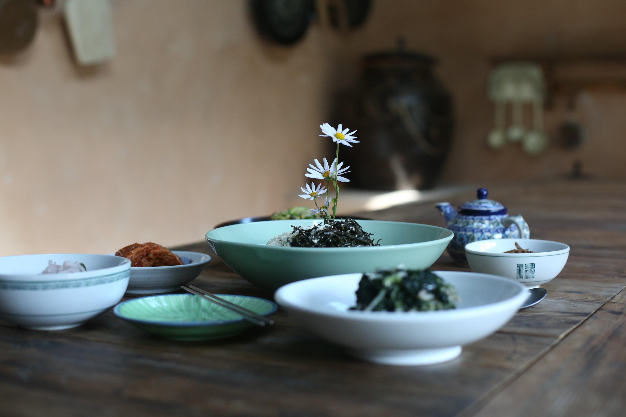 Jeong Kwan's temple meal at Baekyangsa.