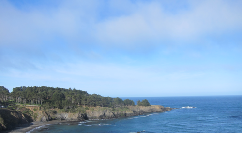 the Mendocino Coast on a sunny day