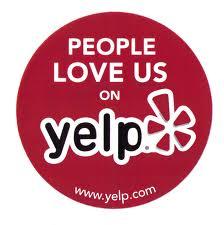 People love us on Yelp: www.yelp.com