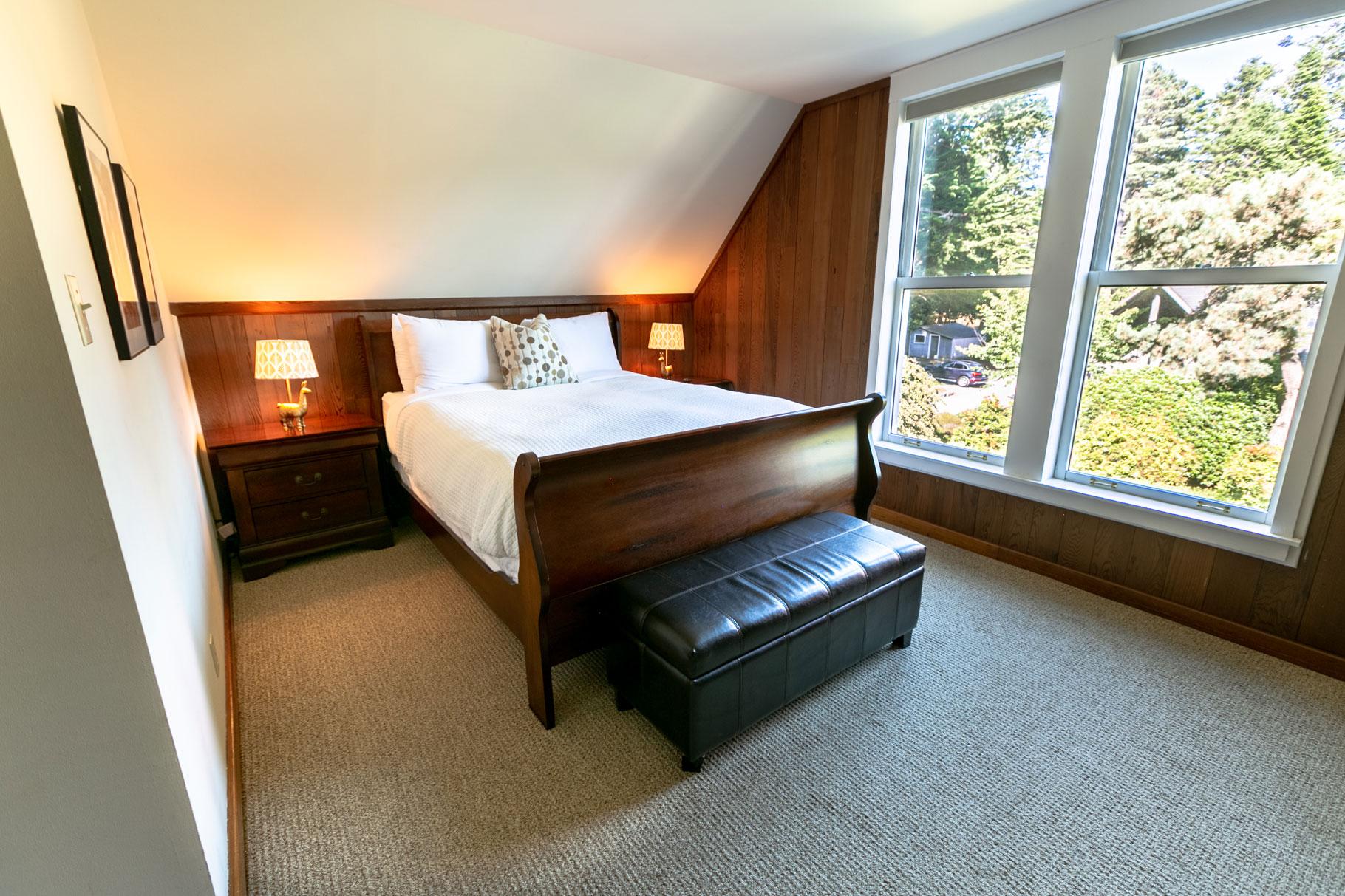 Master Bedroom at the Barn Loft, Glendeven Inn & Lodge