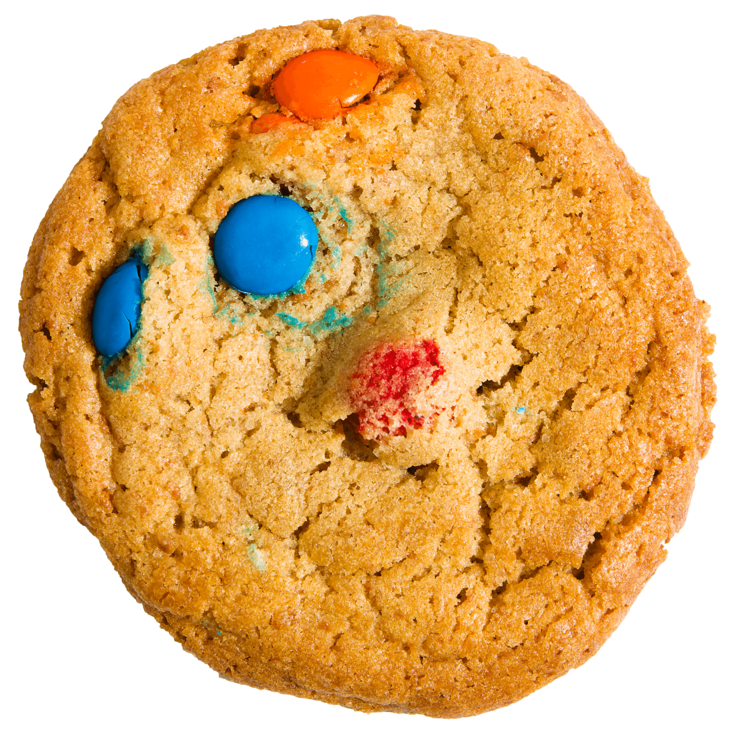 Some things never get old. Like this classic M&M cookie. No frills. No freaky. Just a good cookie.