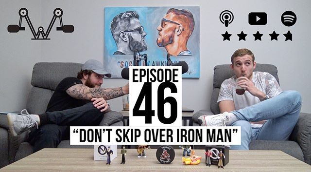 If Iron Man is on the tv treadmill... Don't skip it it. Listen to Episode 46 now available everywhere 💥 • • • #applepodcasts #spotifypodcast #googlepodcasts #breakerpodcasts #anchorpodcast #podcast #podcastlife #podcasting #itunespodcast #ironman #youtube
