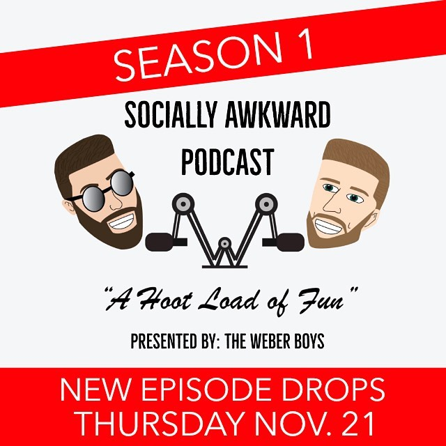 We are back awkward animals! Season 1 of the @sociallyawkwardpod will be here Thursday November 21st. Make sure you are subscribed so you don't miss it!! If you every get confused of our schedule, visit our weberboysentertainment.com to get caught up. Also follow @sociallyawkwardpod for all things Socially Awkward, clips, drops, etc. • • • #podcast #podcasting #podcasters #podcastlife #sociallyawkward #podcastersofinstagram