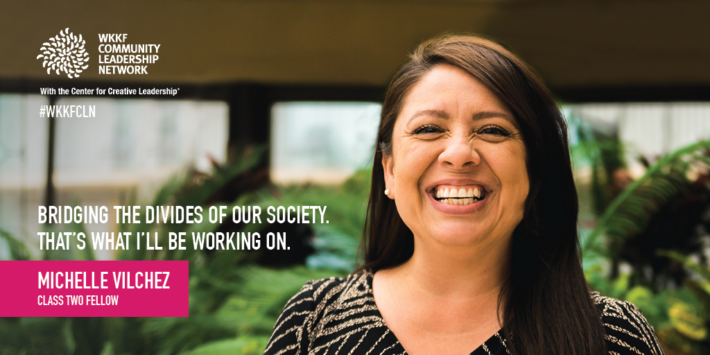 Michelle Vilchez, has been selected to be a W.K. Kellogg Foundation Community Leadership Network fellow!  The W.K. Kellogg Foundation Community Leadership Network with the Center for Creative Leadership® is an innovative fellowship for local leaders to connect, grow and lead transformational change toward a more equitable society. She will be a part of a dynamic and diverse group of 80 individuals who are dedicated to working within our communities to build brighter futures for children and families.  The 18-month fellowship will provide hands-on training, personalized coaching and practical experience. The W.K. Kellogg Foundation has a long history of investing in leadership development. Founder Will Keith Kellogg believed local leaders are the best source of ideas, passion and wisdom to create long-lasting solutions for thriving children and their families. Michelle is looking forward to deepening her knowledge and leadership skills to advance racial equity and racial healing in our community and create sustainable solutions to our most pressing problems.  We are excited for Michelle to represent PCRC on the national stage. Join us in congratulating her!