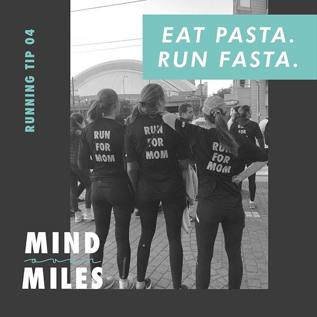 Get those carbs in MOMs! Good luck to everyone running tomorrow! • 👩🏼‍🎨: @notori_ous • #runforMOM