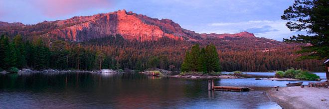 Thunder, Thimble and Silver Lake sunset