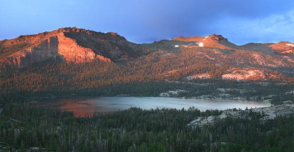 Silver Lake summer sunset