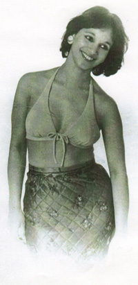 Marleen aged 24 wearing a Sari Skirt