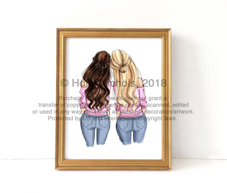 Girl Friend Illustrations
