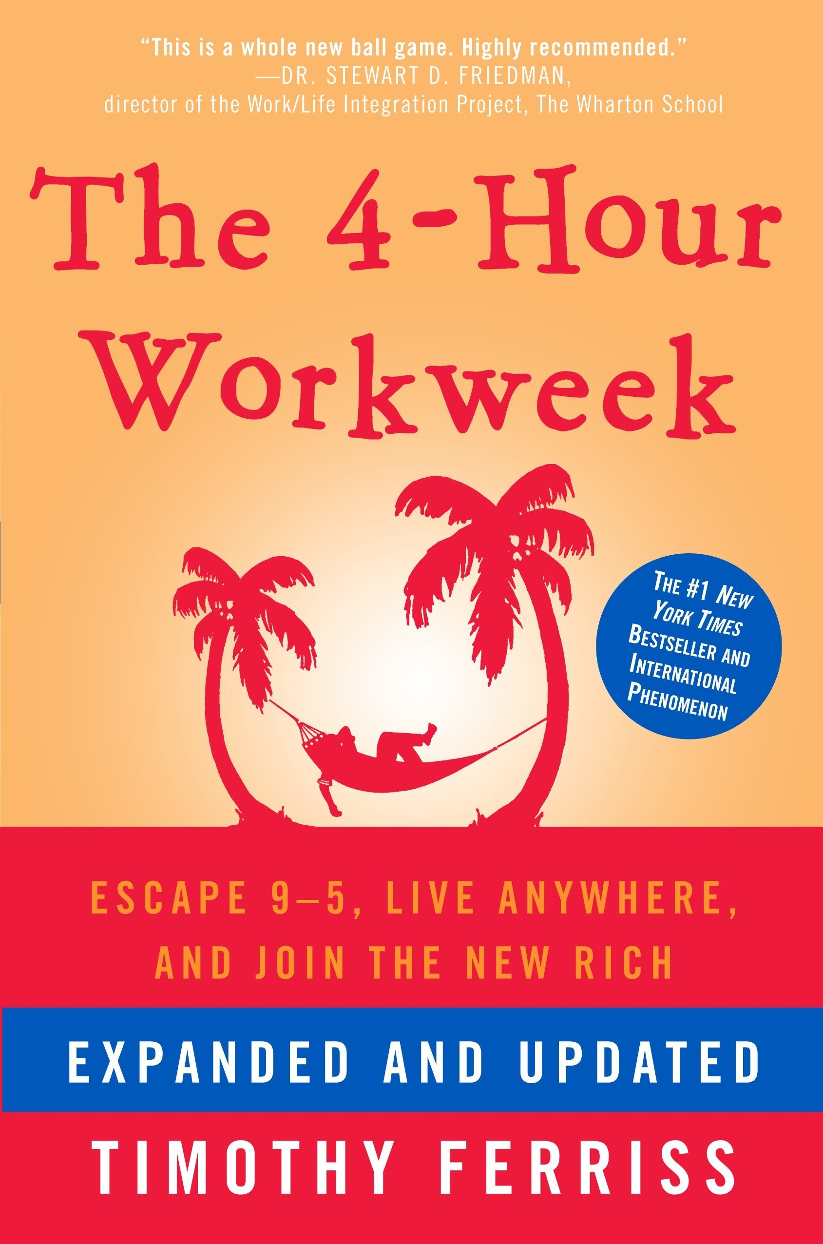 The 4-Hour Workweek: Escape 9-5, Live Anywhere, and Join the New Rich  If your dream is escaping the rat race, high-end world travel, monthly five-figure income with zero management or just living more and working less then this audiobook is the blueprint. Forget your tired, old retirement concepts and throw out that deferred-life plan - there's no need to wait and every reason not to. You can have it all! This audiobook is the compass for a new and revolutionary world. Start living now!   - Tim ferriss