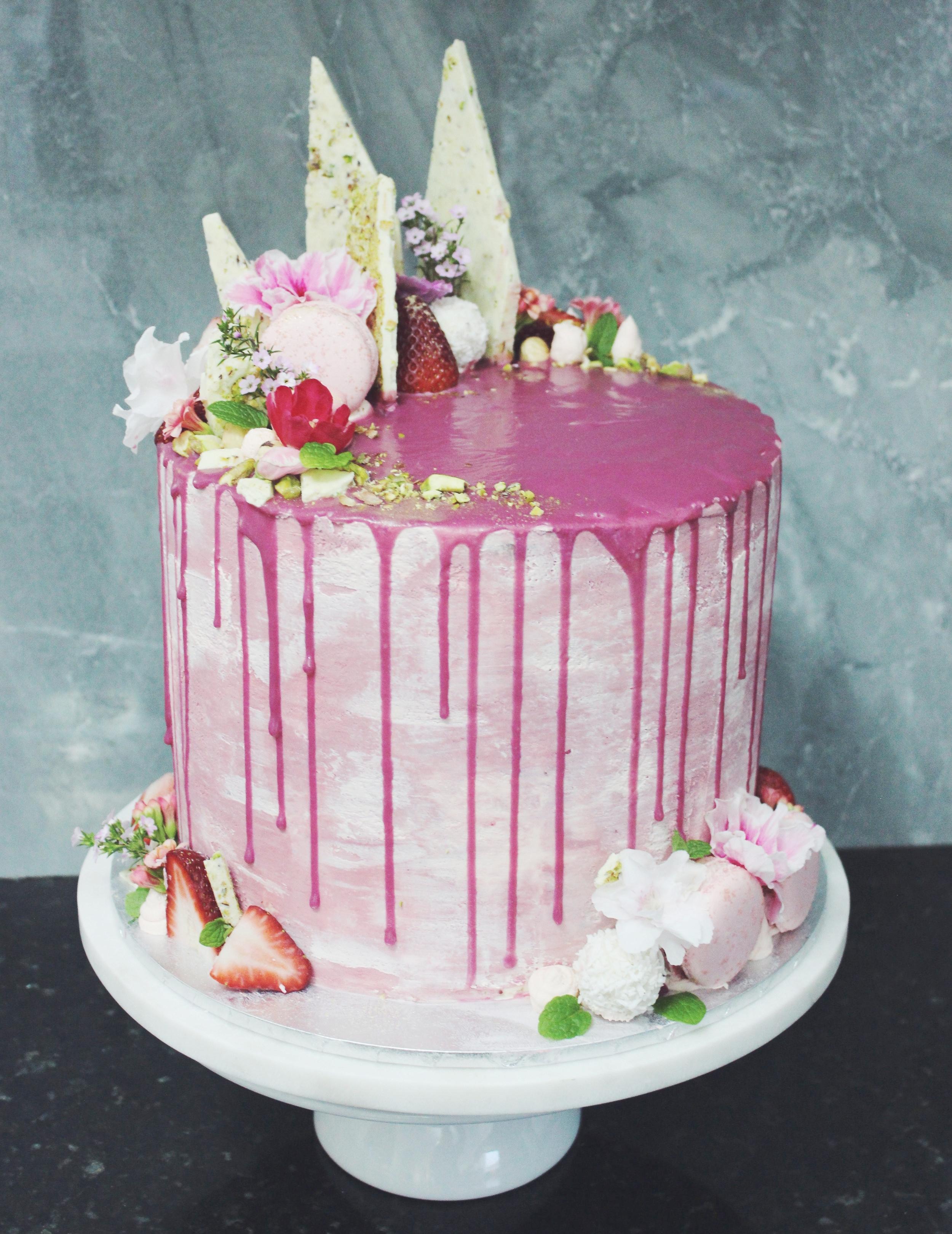 Marble Cake with Vanilla Mascarpone