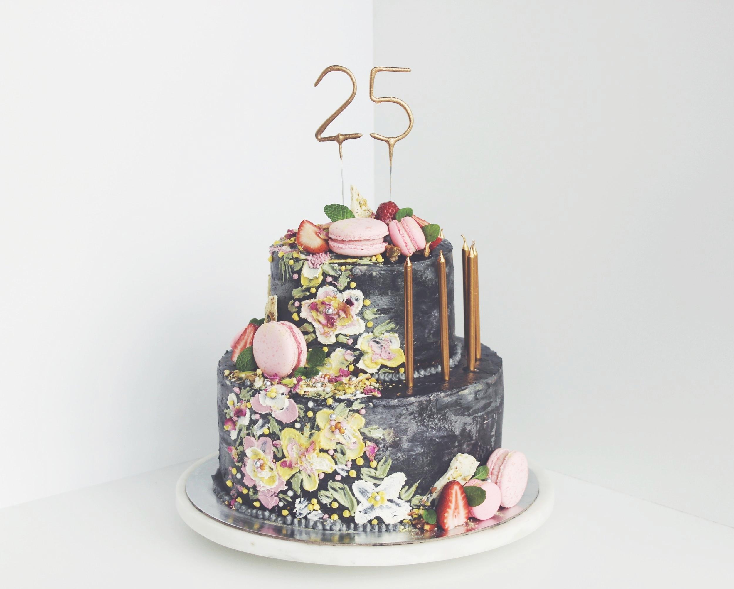 Raspberry and White Chocolate Cake w/ Vanilla Mascarpone
