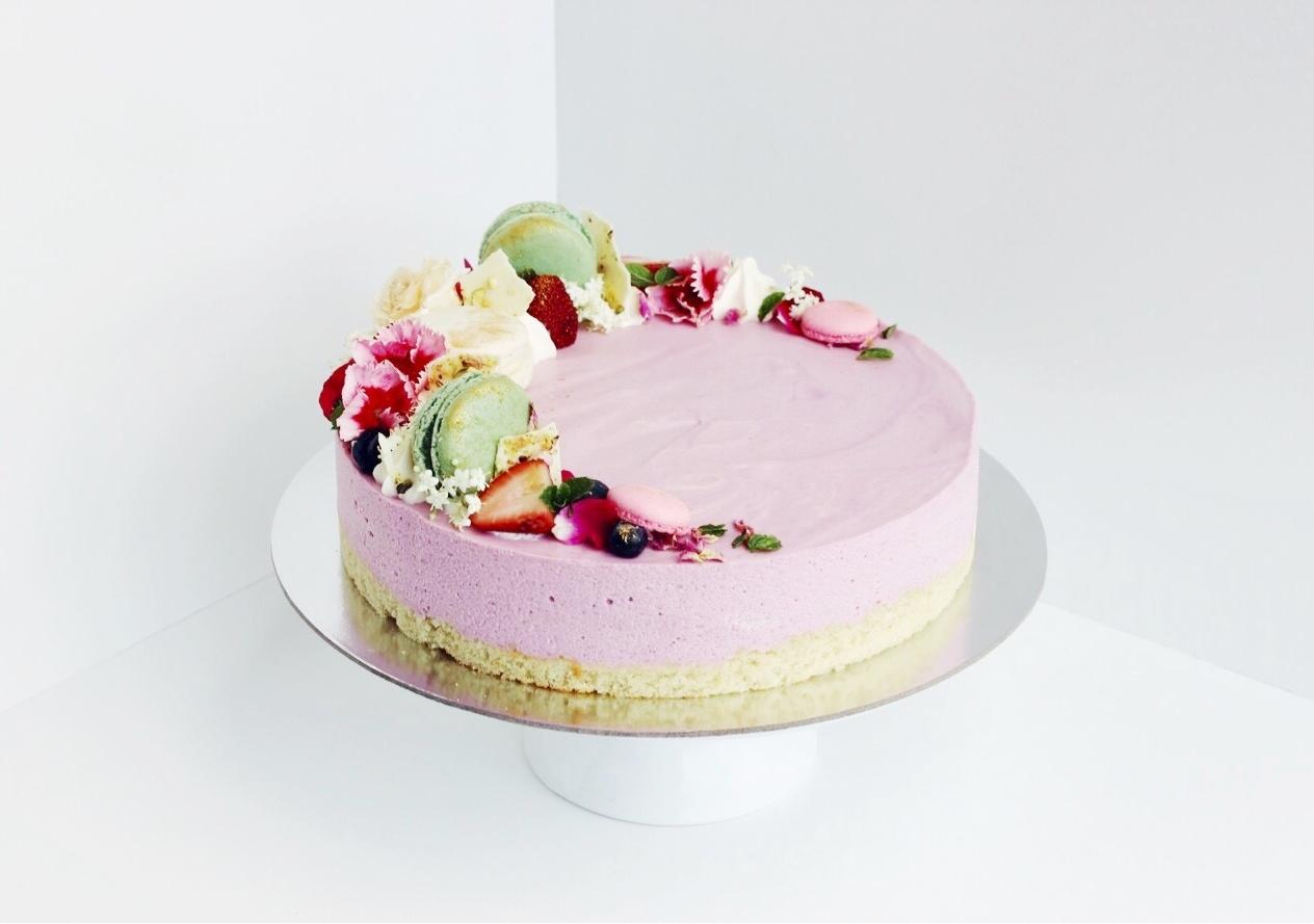 """8"""" Taro White Chocolate Mousse Cake"""