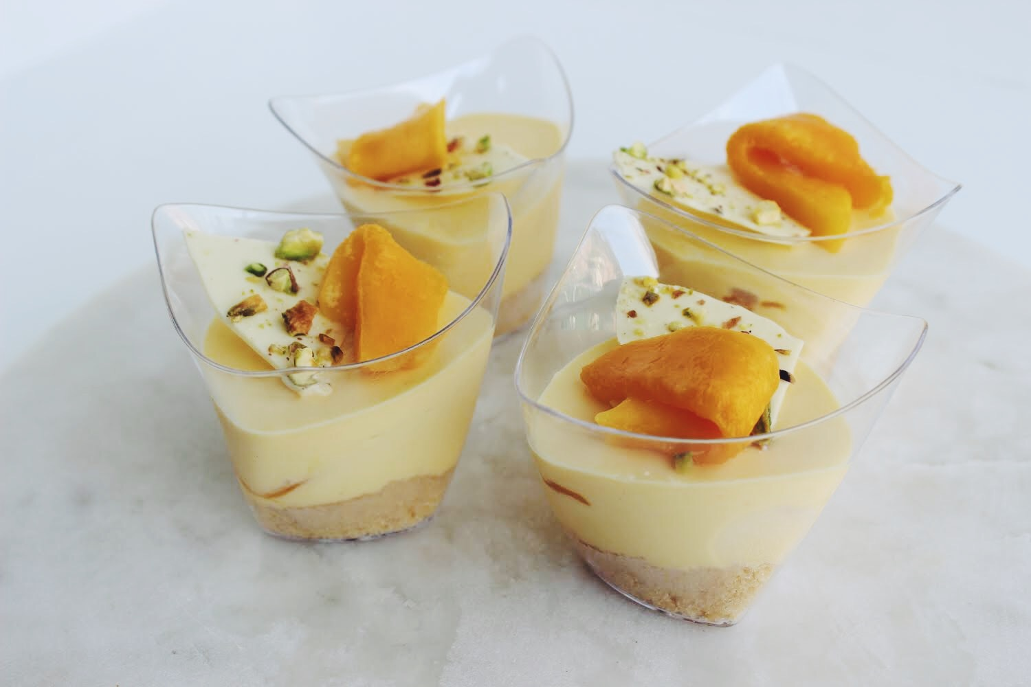 Mango Cheesecake Dessert Cups