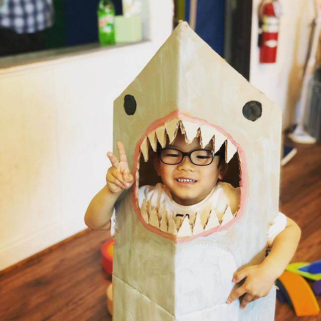 🎼Cardboard Shark, doo doo do do, @makedo doo do do, makedooooo 🦈 #creativekids #cardboardcreations #cardboardcostume