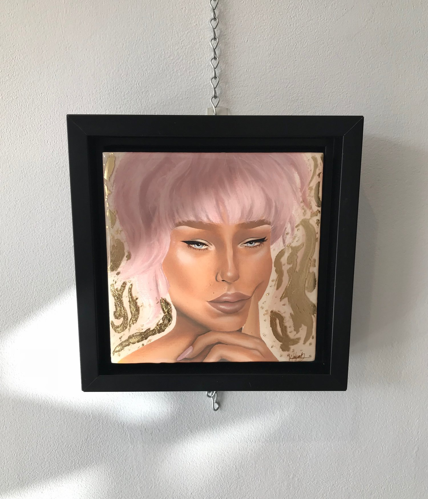 shari - Oils, mixed media and resin on panelFramed6 x 6 inches2018$160For inquiries, please send an e-mail to kayanhbennett@gmail.com