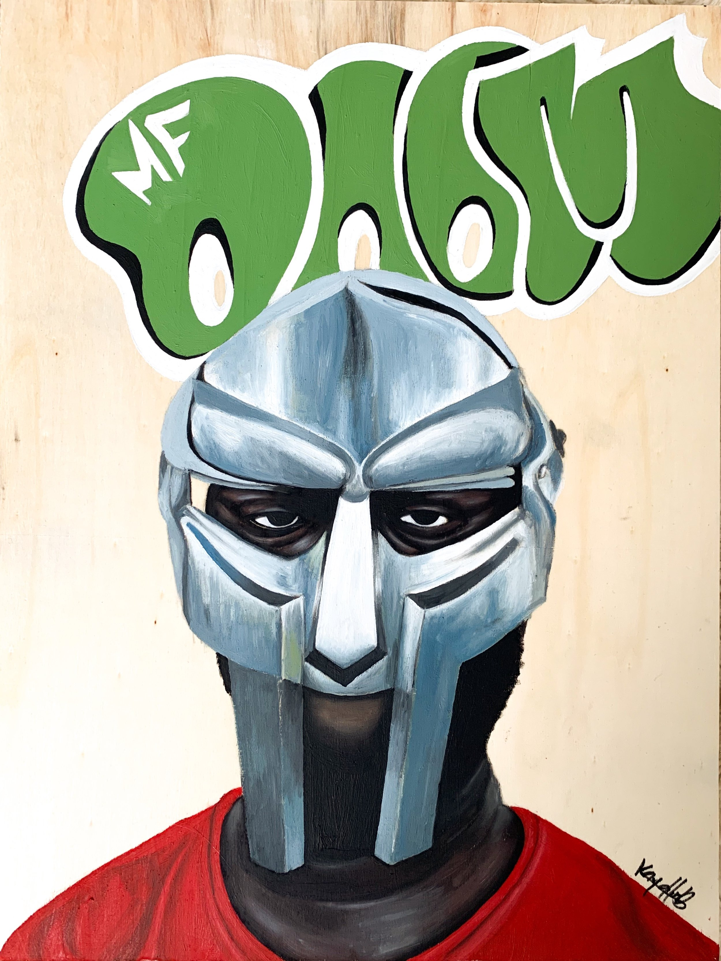 mf doom - Oils on panel11x14 inches2019SOLD