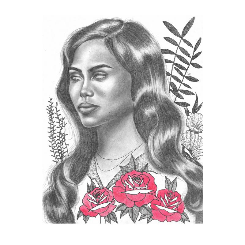 lolita - 8x10Graphite on paper2018