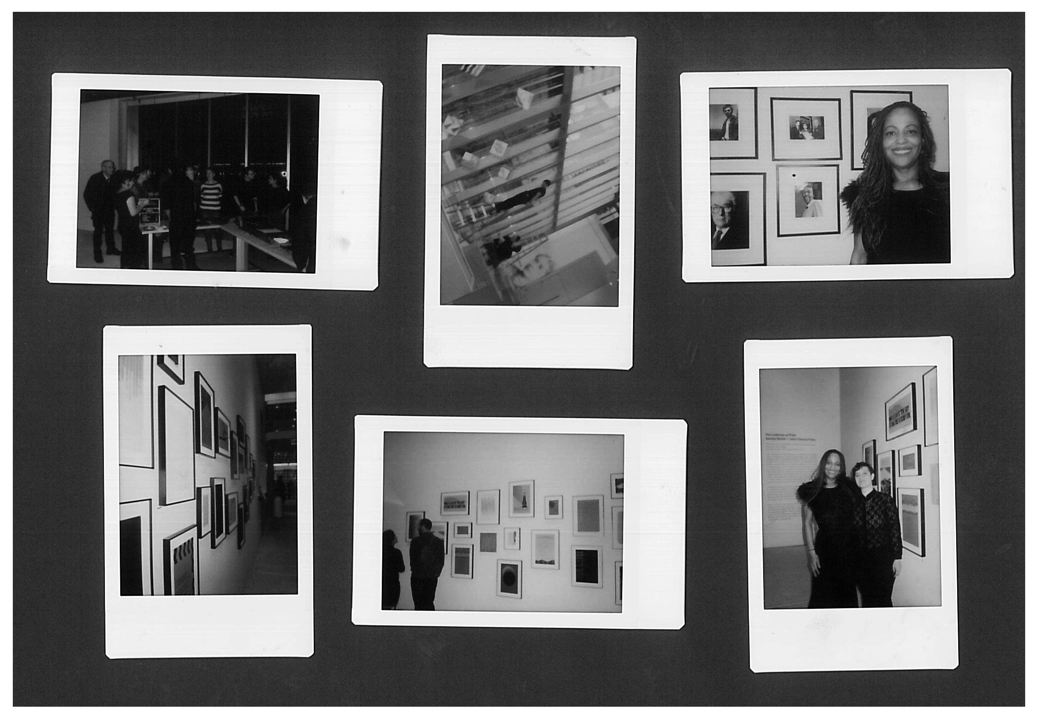 Polaroids of Professor Samiya Bashir and Daniela del Mar setting up the exhibit  The Lushness of Print   Photos courtesy of Samiya Bashir