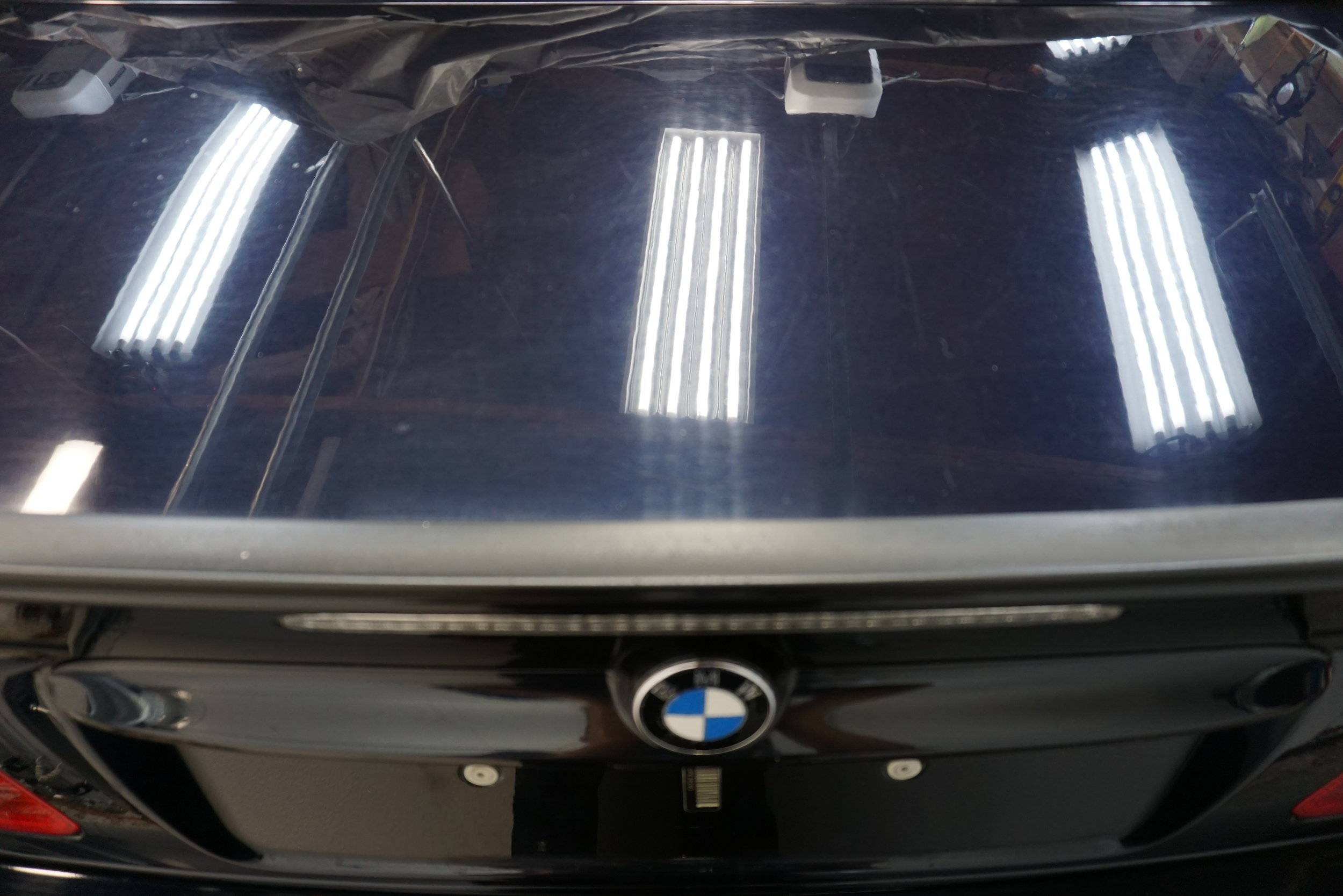 Trunk Lid before - very dull looking