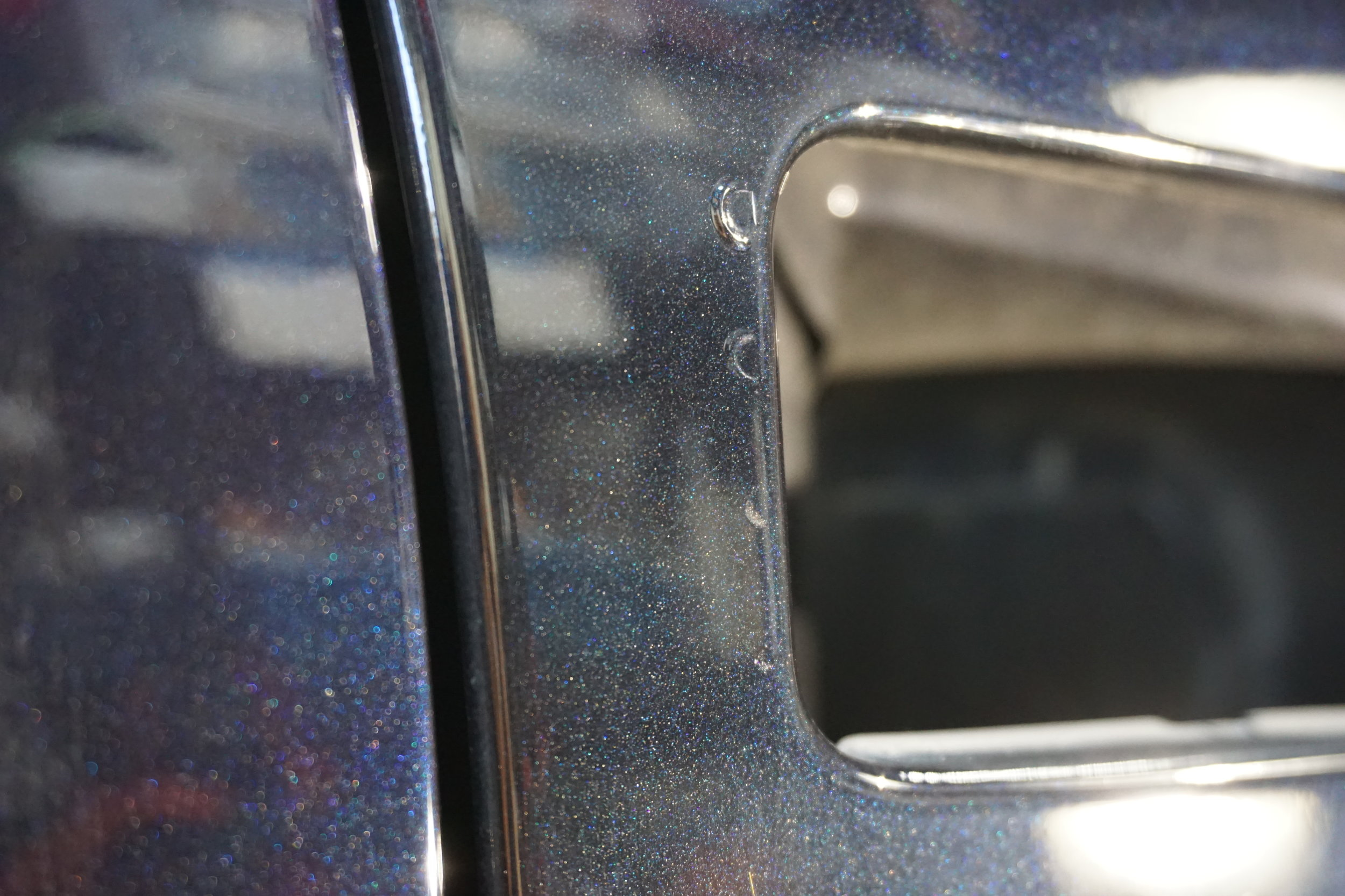 Pass Fender was repainted and you can see the difference