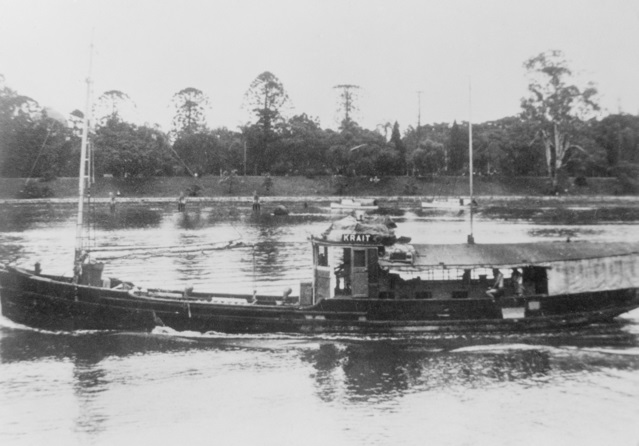 Probably 1943 MV KRAIT CHINESE BUILT TRAWLER COMMANDEERED DURING 1942 AND OPERATED BY THE SERVICES RECONNAISSANCE DEPARTMENT ALLIED INTELLIGENCE BUREAU FOR CLANDESTINE OPERATIONS IT WAS SUBSEQUENTLY OPERATED BY.jpg