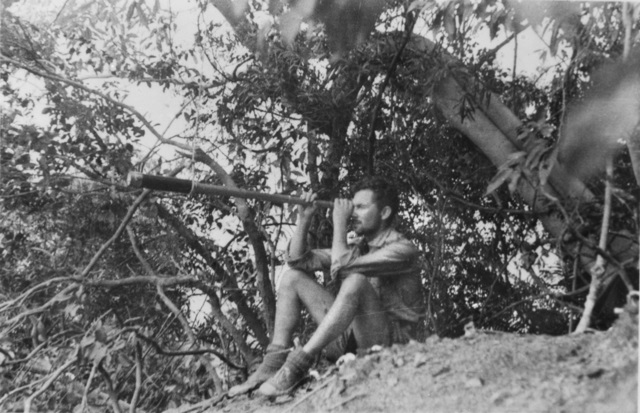 SINGAPORE STRAITS SETTLEMENTS 1943 09 FORWARD OBSERVATION POST ON DONGAS ISLAND SITUATED ABOUT 8 MILES SOUTH EAST OF SINGAPORE WHICH WAS USED BY MEMBERS OF OPERATION JAYWICK Z SPECIAL UNIT AUSTRALIAN SERVICES RE.jpg