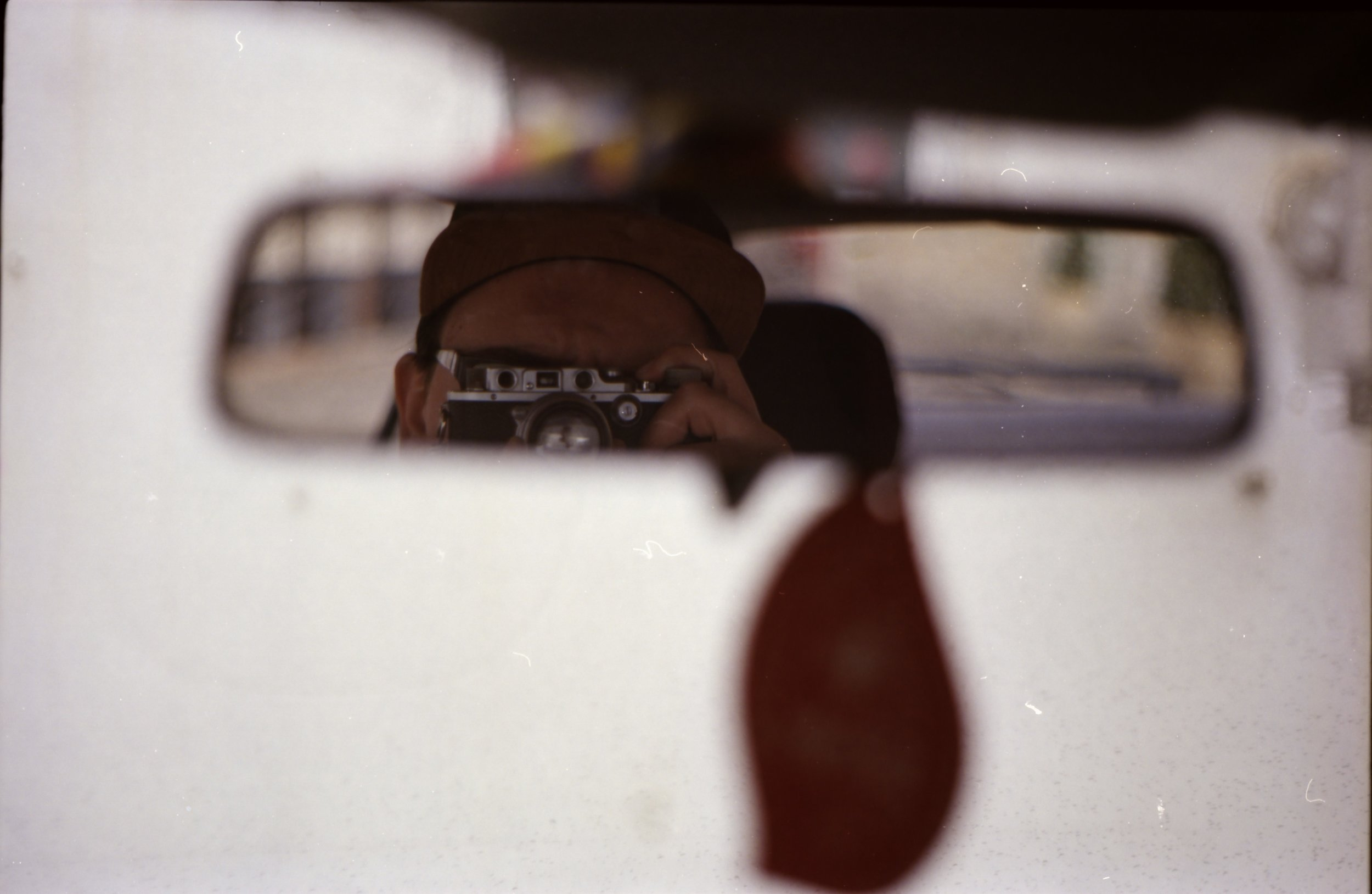 With my Leica IIIb in my car