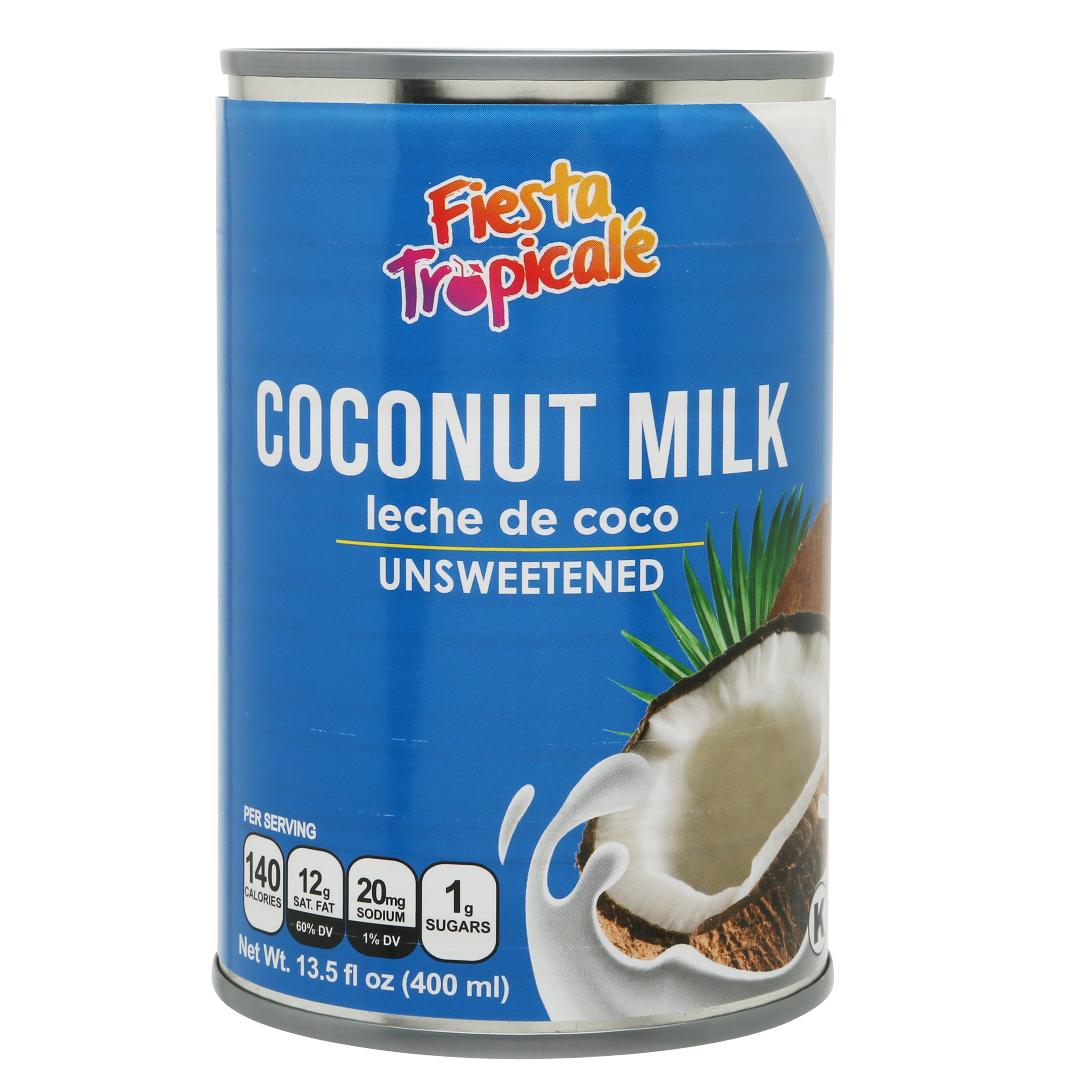 Fiesta Tropicale Natural Coconut Milk_Front of Can