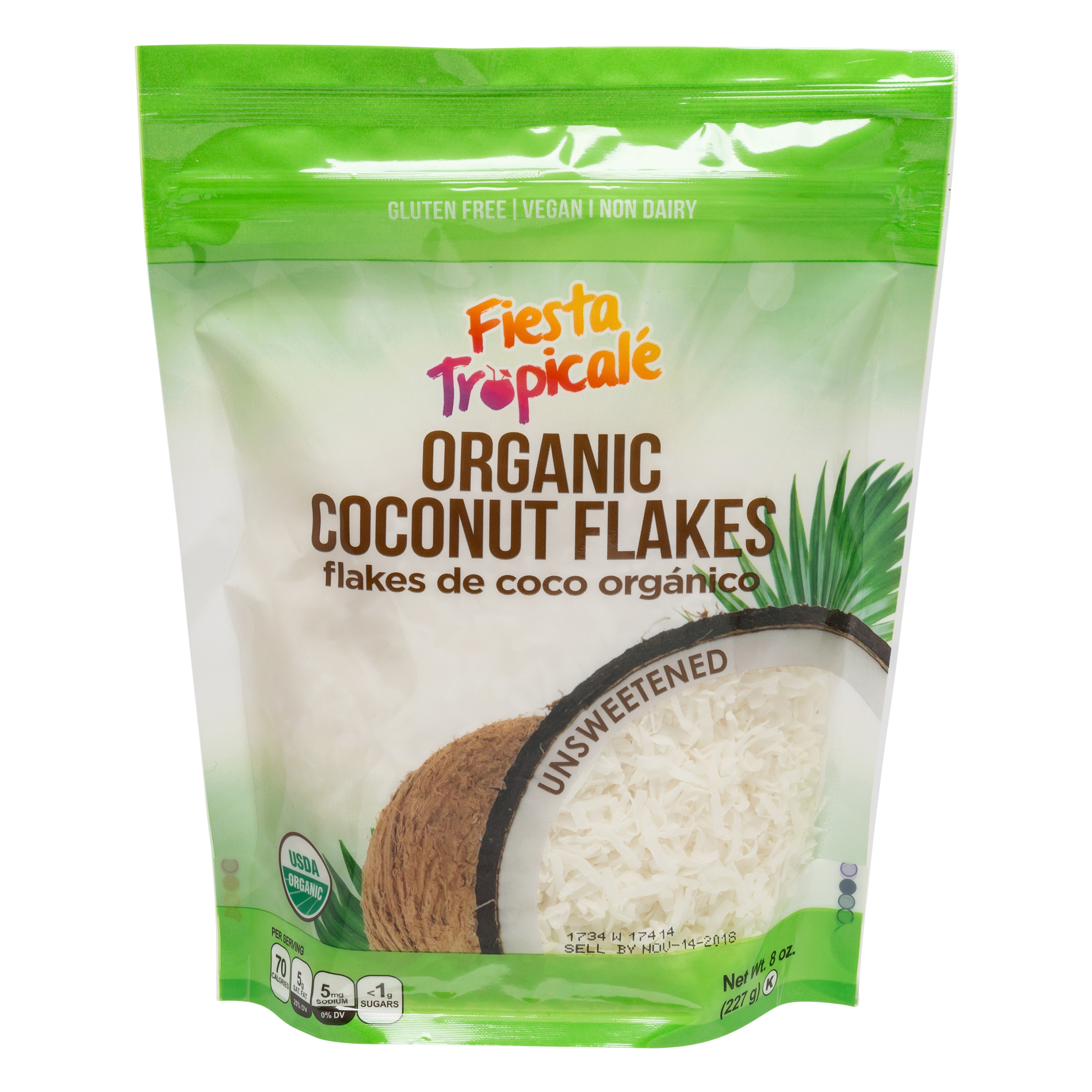 Fiesta Tropicale Organic Unsweetened Coconut Flakes