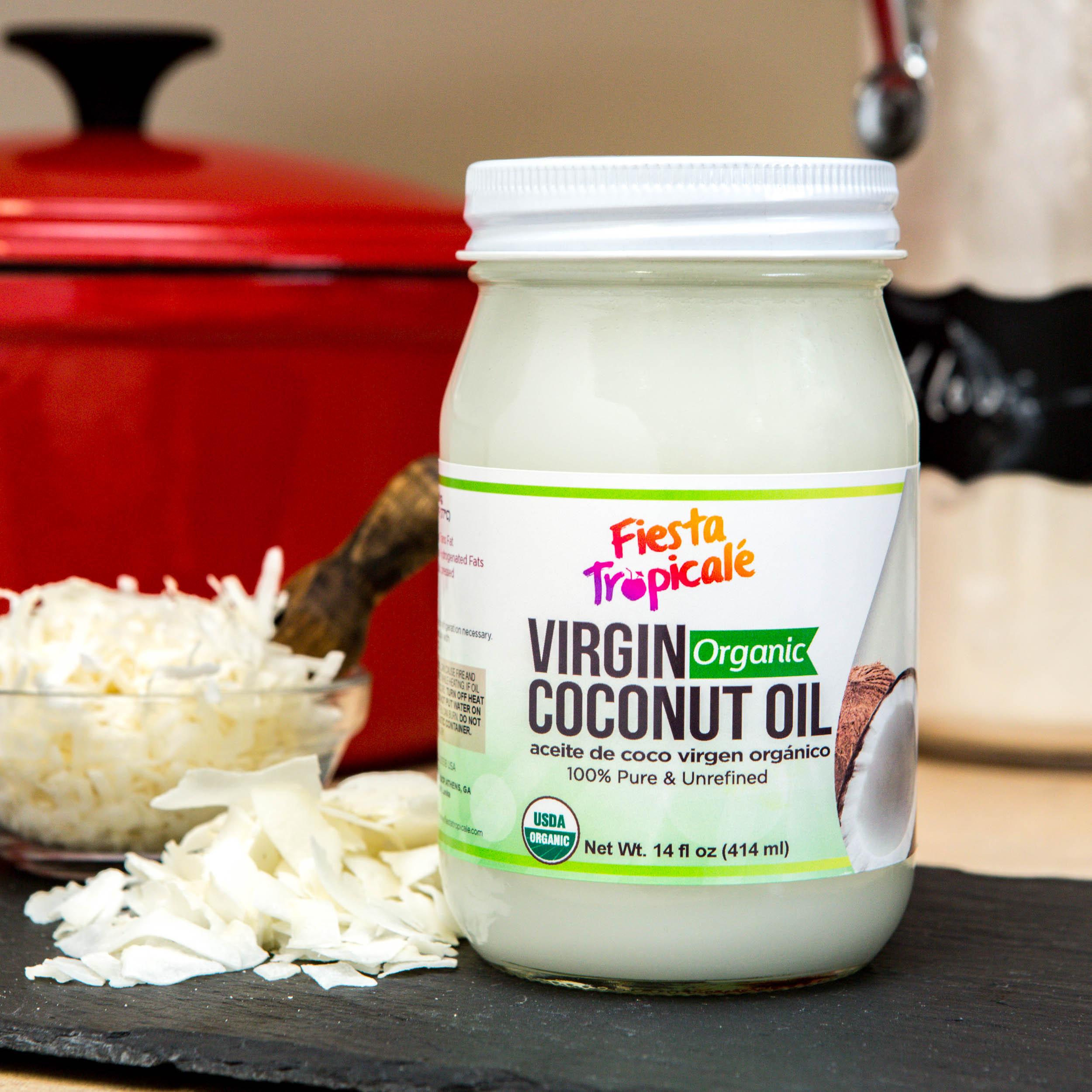 Fiesta Tropicale Organic Virgin Coconut Oil on Amazon