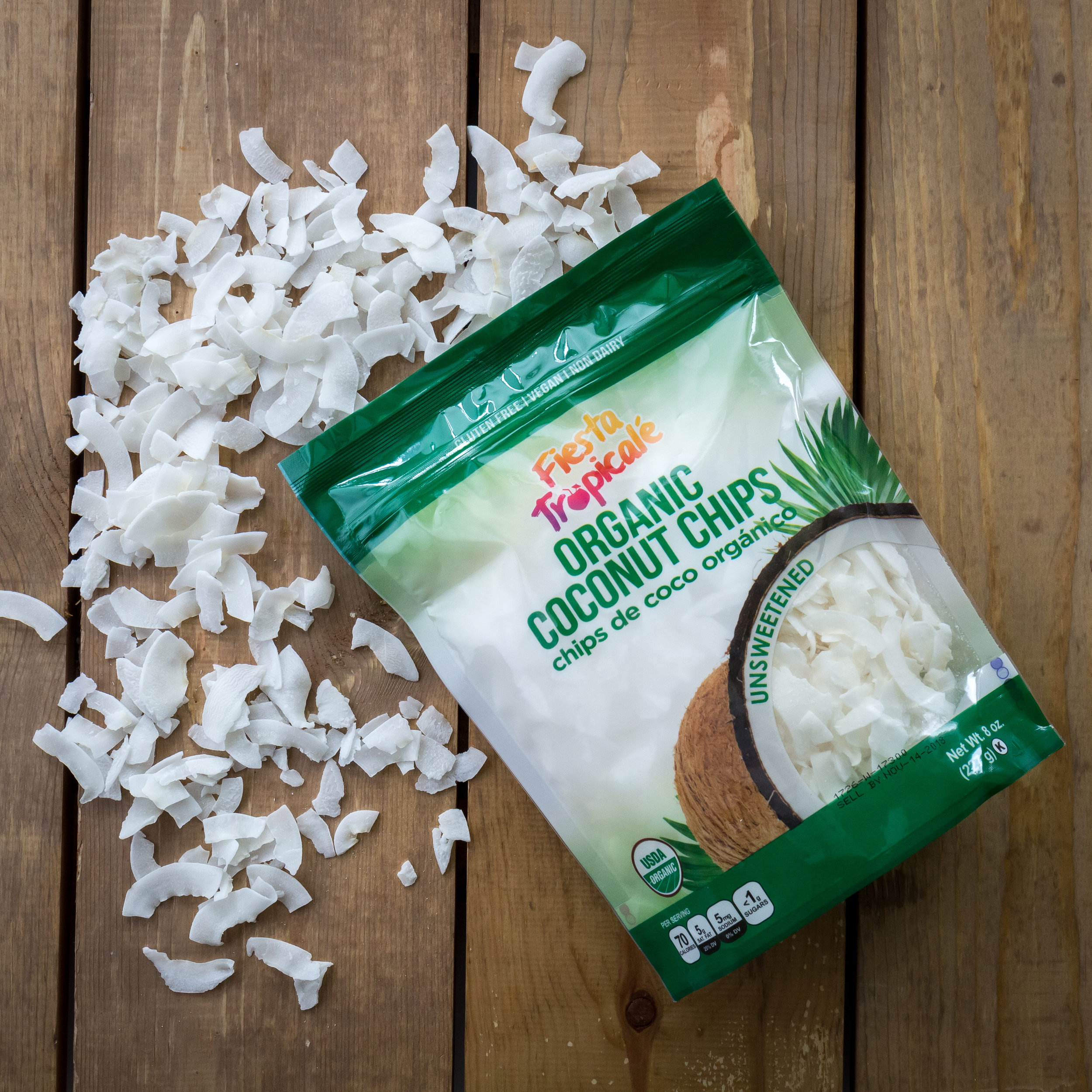Fiesta Tropicalé Organic Unsweetened Coconut Chips