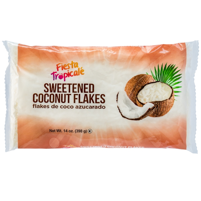 Fiesta Tropicale Sweetened Coconut Flakes  Available for Retail and e-Commerce