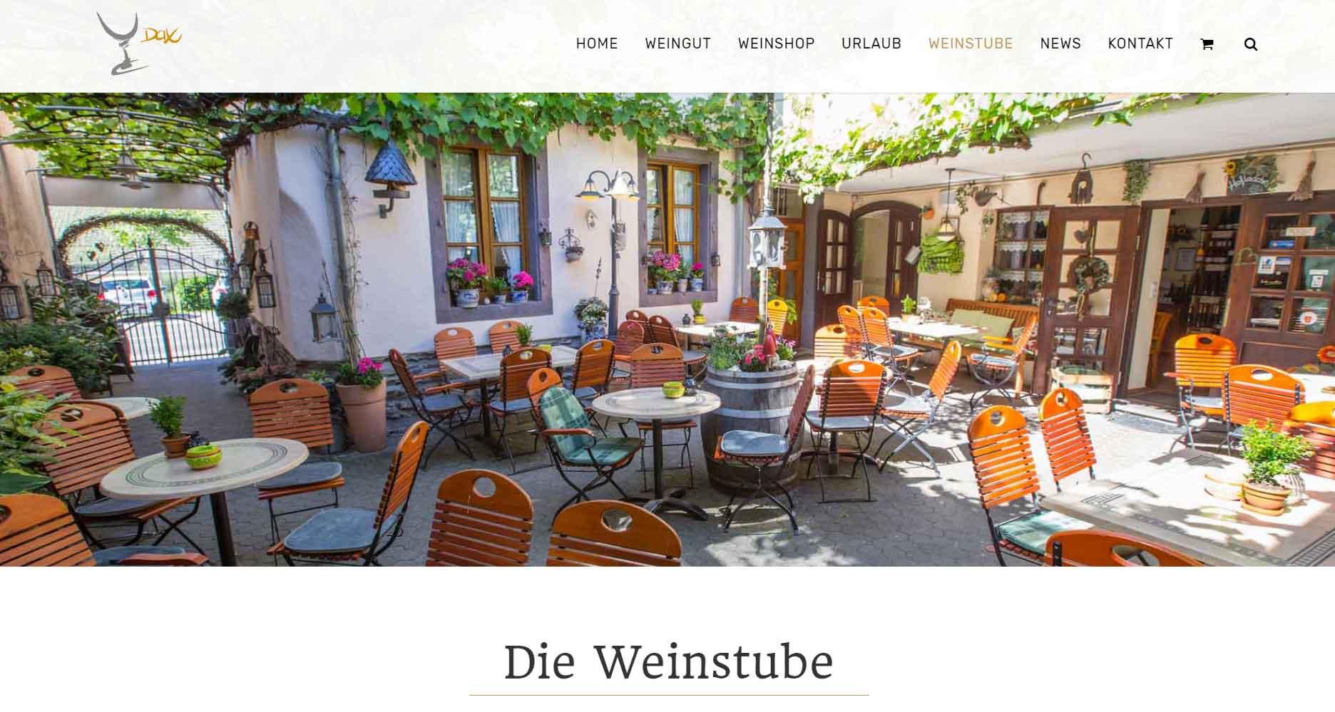 Webseite Weingut Dax