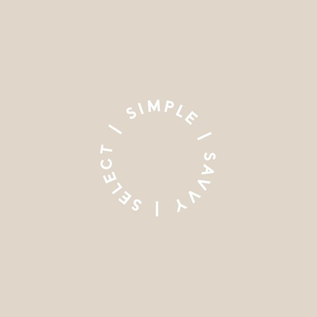 SIMPLE | SAVVY | SELECT - A tagline / stamp for an accounting and business coaching company who specialise in the beauty industry 😘