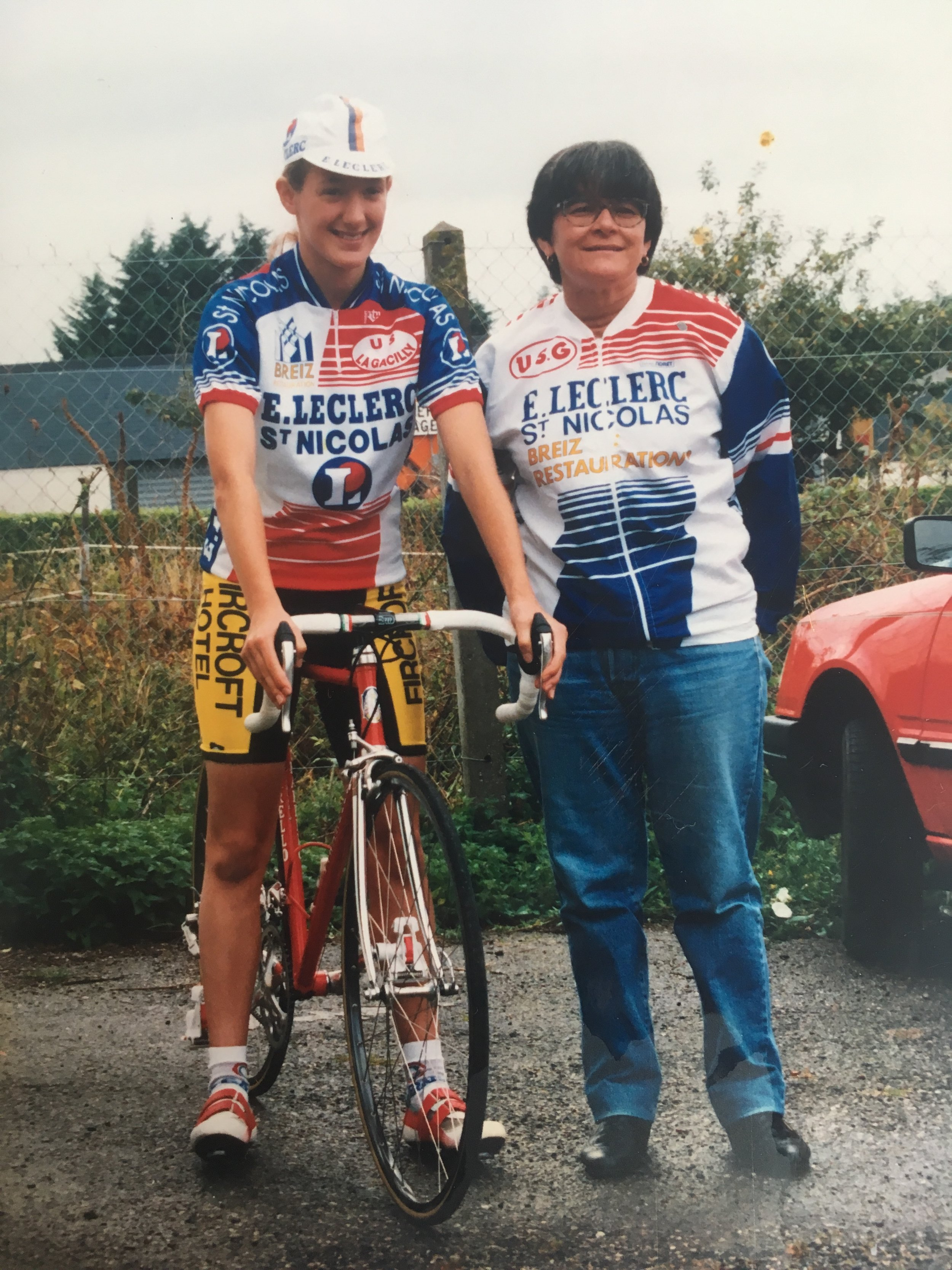 Racing for VC La Gacilly on hoiiday in the mid 90's