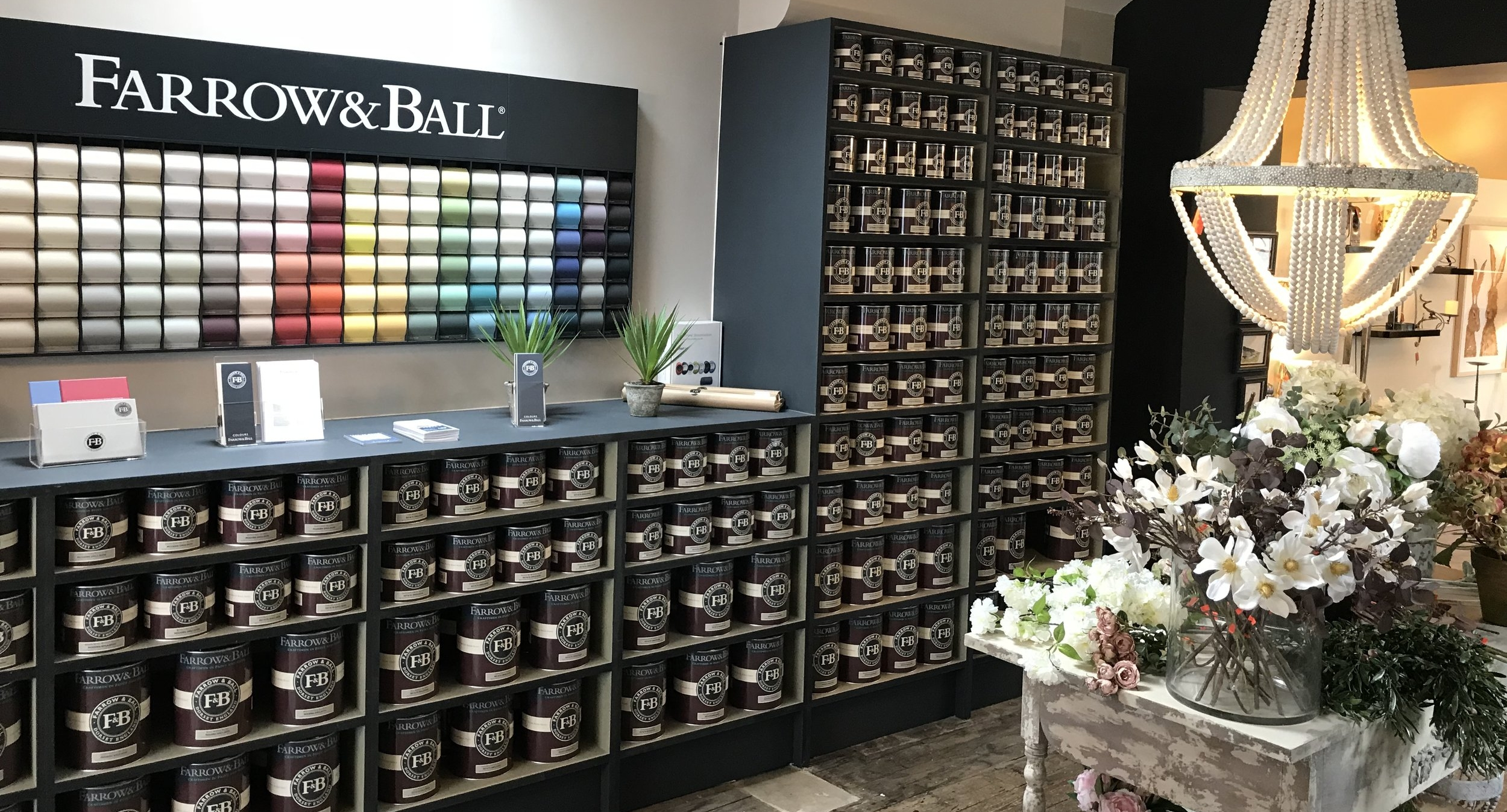 Capella are pleased to be a leading Farrow & Ball Stockist for Yorkshire & The Lake District. - 3 WAYS TO BUY:Pop in to our Settle or Windermere StoresCall us - Settle: 01729 268020 or Windermere: 015394 22022Order Online via our 'Click & Collect' Service below*