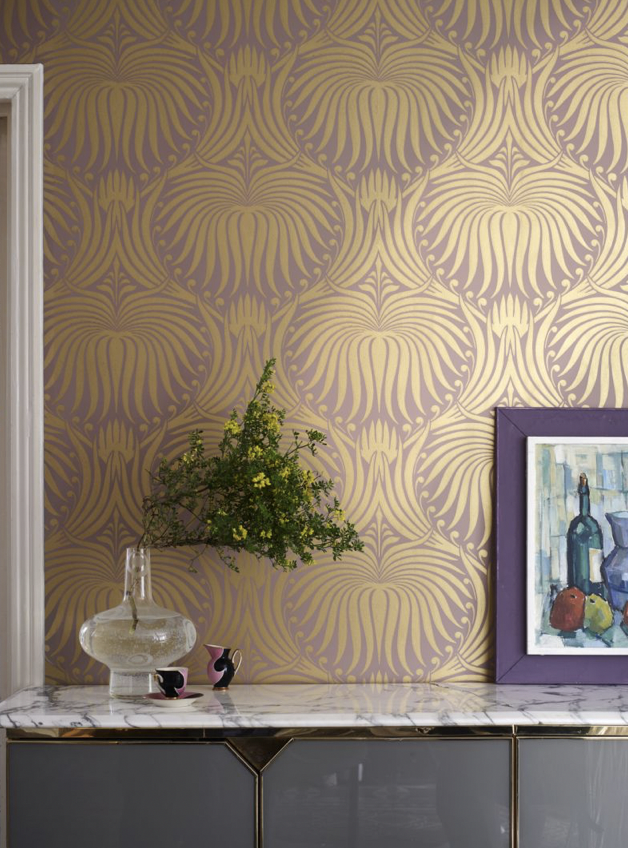 """Farrow & Ball Launches a 25-Piece Metallic Wallpaper Collection"" – Yahoo News – available at Capella Home & Gift, Settle & Windermere"