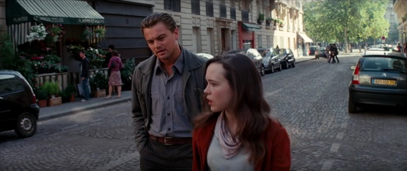 As Cobb (Leonardo DiCaprio) and Ariadne (Ellen Page) walk the streets of Paris they are immersed in the physical world: florists, cafes, bookstores, banks, and streets surround them. In this world, competitive moats are largely contextual to physical location.