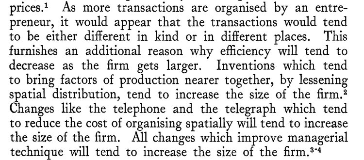"""""""The Nature of the Firm"""", by R.H. Coase, Economica, Nov 1937"""