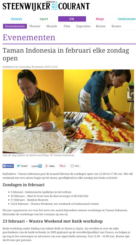 Steenwijker Courant    30 January 2019